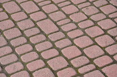 Tiled pavement background. Royalty Free Stock Images