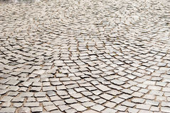 Tiled pavement background. Royalty Free Stock Image