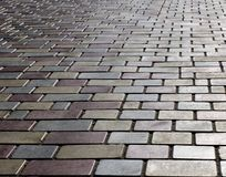 Tiled pavement pattern. Canon 20D. City road abstraction Royalty Free Stock Image