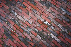 Tiled pavement texture. Royalty Free Stock Photography