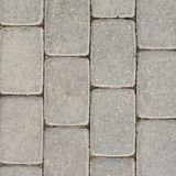 Tiled with paving stone bricks path Royalty Free Stock Photography