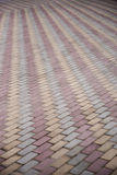 Tiled pedestrian walkway Royalty Free Stock Photography