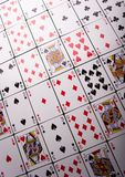 Tiled playing cards Royalty Free Stock Photo