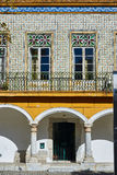 Tiled portuguese building in the downtown of Beja, Alentejo. Portugal. Stock Photo