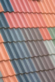 Tiled roof. Keep the roof dry using a secure building material Royalty Free Stock Photography