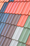 Tiled roof. Keep the roof dry using a secure building material Royalty Free Stock Images