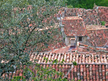 Tiled roof Stock Image