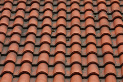 Tiled roof Stock Images