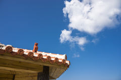 Tiled roof arbour Royalty Free Stock Photography