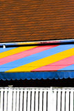 Tiled roof and awning Stock Images
