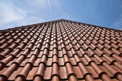 Tiled roof close-up Royalty Free Stock Image