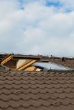 Tiled roof and dormer windows Royalty Free Stock Photography