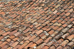 Tiled roof. The tiled roof of a house in old town Bar, Montenegro royalty free stock image