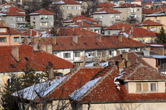 Tiled Roof Houses Stock Photography