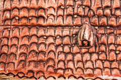 Tiled roof model Royalty Free Stock Images