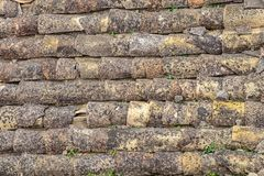 Tiled roof of old houses, Background for design texture royalty free stock photo