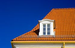 Tiled roof and one window Royalty Free Stock Photography