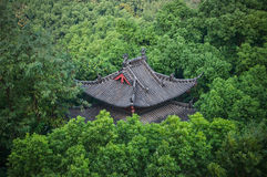 Tiled Roof in the Park, Hangzhou, China Stock Image