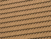 Tiled roof pattern Royalty Free Stock Image