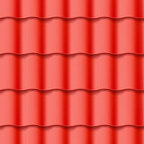 Tiled roof seamless pattern Stock Photo