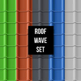 Tiled roof seamless pattern Royalty Free Stock Photo