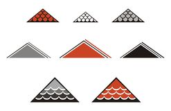 Tiled roof symbols Stock Image