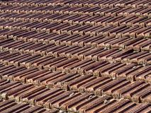 Tiled roof tiles Royalty Free Stock Photos