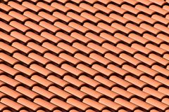 Tiled Roof Top. Pattern Stock Image