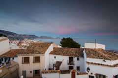 Tiled roof tops of white houses in Altea, Spain Royalty Free Stock Image
