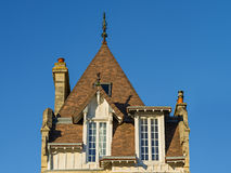 Tiled roof of a typical Norman house, Normandy, France Stock Image
