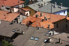 Tiled roofs Stock Image