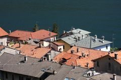 Tiled roofs Stock Images
