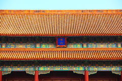 Tiled roofs Forbidden City Stock Photography