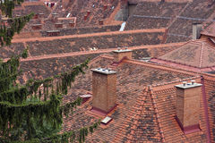 Tiled roofs of Graz stock photography