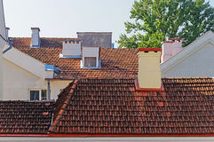 Tiled roofs of houses in Trinity Suburb, Minsk Stock Photos