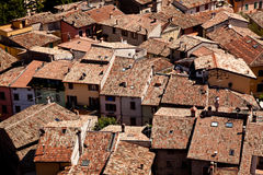 Tiled roofs of Malcesine Royalty Free Stock Photos