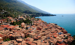 Tiled roofs of Malcesine Royalty Free Stock Images