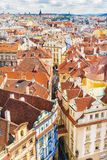 Tiled roofs of old Prague, Czech Republic Stock Images