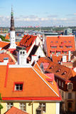 Tiled roofs of Old town of Tallin Royalty Free Stock Photo