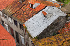 Tiled Roofs One With Foil Insulation Royalty Free Stock Images