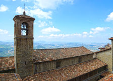 Tiled roofs of San Marino, Europe Royalty Free Stock Photos