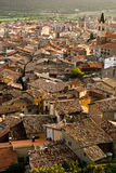 Tiled roofs of Spain, Puigcerda Stock Image