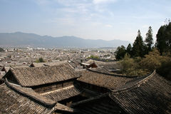 Tiled roofs of Traditional Chinese homes Stock Photo