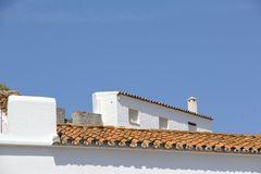 Tiled rooftop Royalty Free Stock Photography