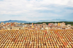 Tiled rooftops of Girona, Catalonia Stock Images