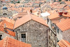 Tiled rooftops of old town. Stock Photos