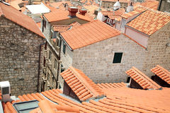 Tiled rooftops of old town. Royalty Free Stock Photo