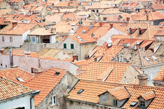 Tiled rooftops of old town. Royalty Free Stock Photography