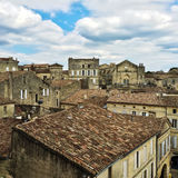 Tiled rooftops of Saint-Emilion, France Royalty Free Stock Images