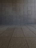 Tiled Room. A tiled empty room as a background Stock Photo